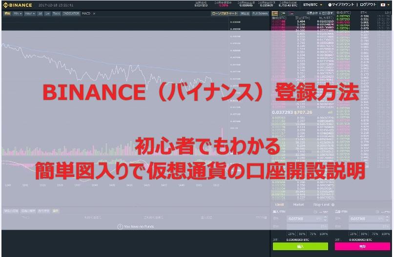 BINANCE(バイナンス)登録方法!初心者でもわかる簡単図入りで仮想通貨の口座開設説明