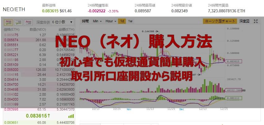 NEO(ネオ)購入方法!初心者でも仮想通貨簡単購入、取引所口座開設から説明