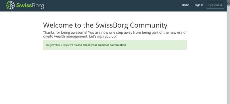 SwissBorg 買い方
