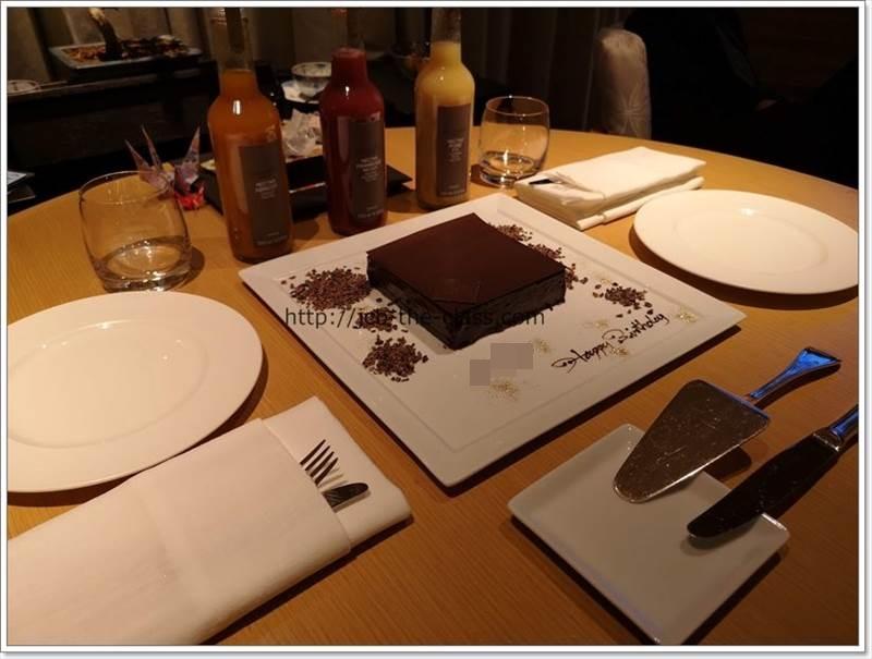 リッツカールトン京都 誕生日 ケーキ