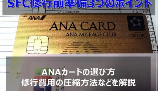SFC修行2020年版!事前準備3つのポイント・ANAカードの選び方、費用圧縮方法等